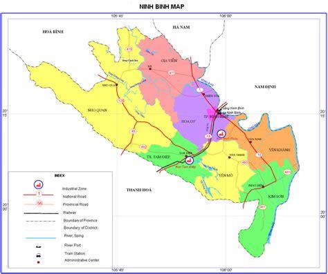 Ninh Binh map   Vietnam travel map