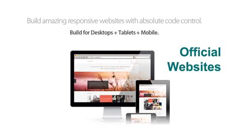 web layout builder does a building official website for company help