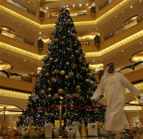 abu dhabi bejeweled christmas tree is world record for