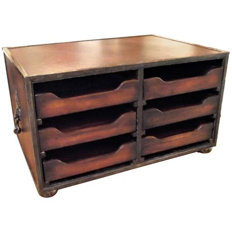 Desk Organizer Leather Mahogany And Leather Desk Organizer For Sale At 1stdibs