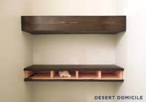 Chunky Bookshelves Diy 15 Chunky Wooden Floating Shelves Desert Domicile