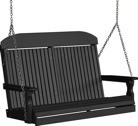 high back porch swing 4 high back poly porch swing modern porch swings by