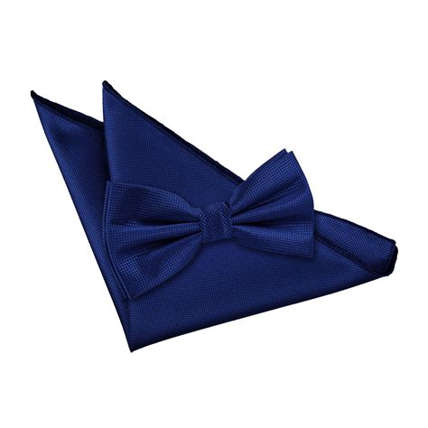 s solid check royal blue bow tie 2 pc set