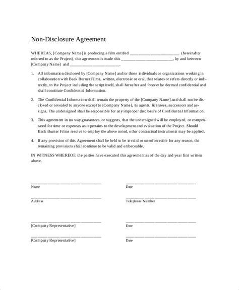 disclosure agreement templates    premium templates