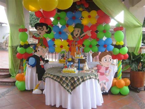 el chavo del ocho centro de mesa fiestaideas decoraci 211 n con globos fiestas infantiles bogota
