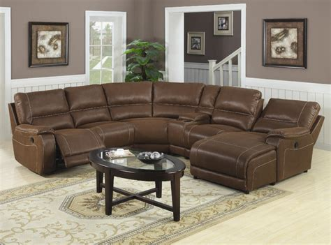 loukas leather reclining sectional sofa with chaise by