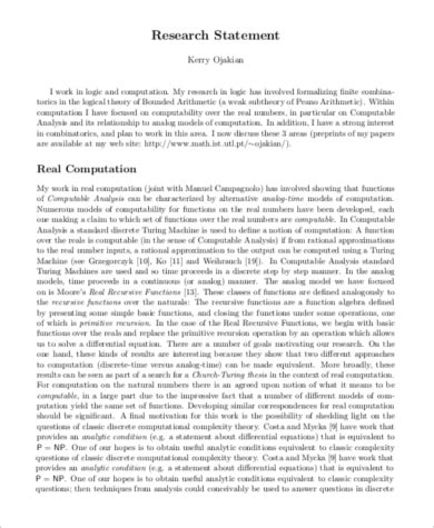 10 Sle Research Statements Sle Templates Research Statement Template
