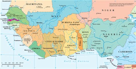 map of west africa map of west africa free large images