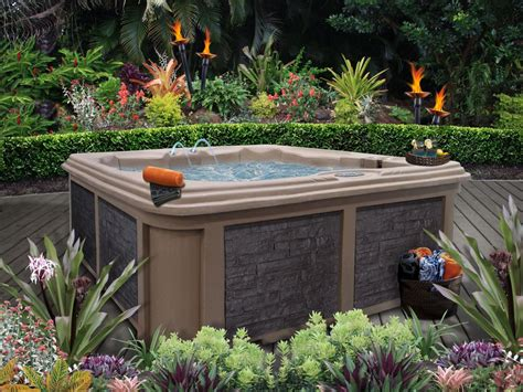 backyard hot tub landscaping 7 sizzling hot tub designs outdoor design landscaping