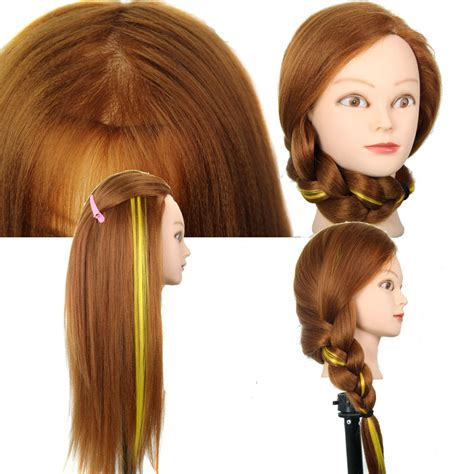 hair and makeup mannequin head yaki golden18 inch training head with makeup 70 high