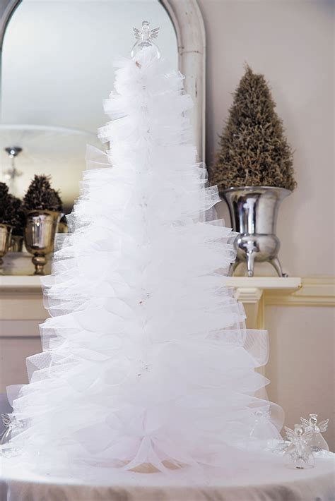pinterest christmas made out of tulldecorating ideas white tulle tree