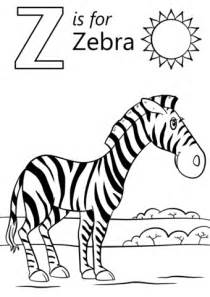 letter z coloring pages preschool letter z is for zebra coloring page free printable