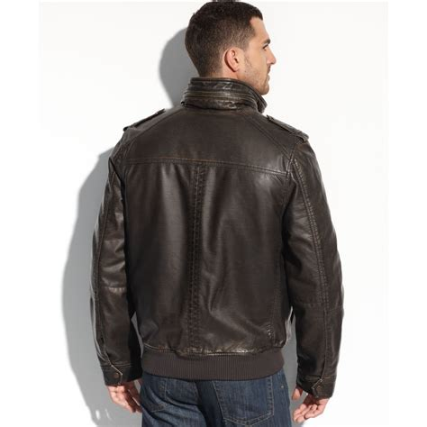 faux leather bomber hilfiger faux leather 4 pocket bomber