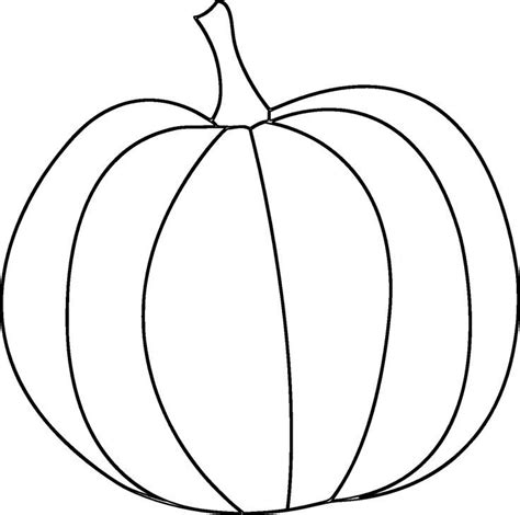 pumpkin outline printable coloring home