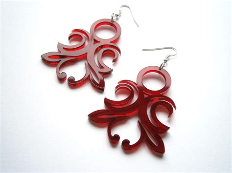 how to make laser cut acrylic jewelry laser cut transparent acrylic original ornament earrings