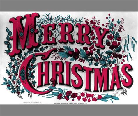 christmas clip art vintage merry christmas clipart digital