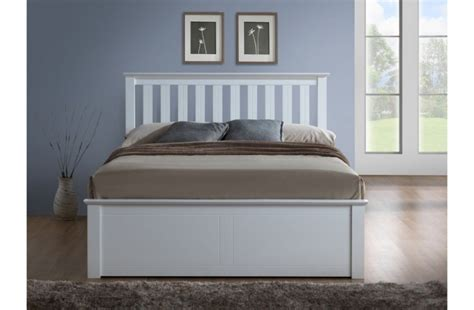 White Wooden Ottoman Bed Birlea 4ft Small White Ottoman Lift Wooden Bed Frame By Birlea