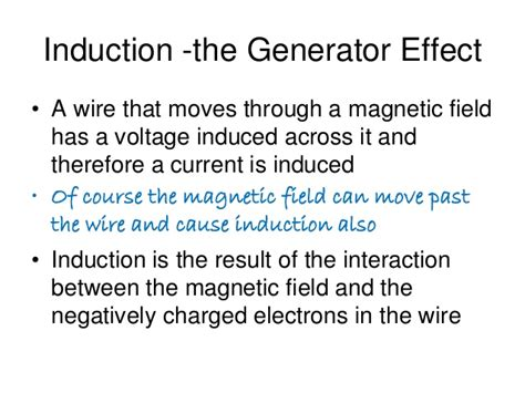 induction generator effect electromagnetic induction