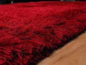 Modern Shaggy Rugs Plush Red Shaggy Rug Plush Red Shaggy Rug 163 117 00