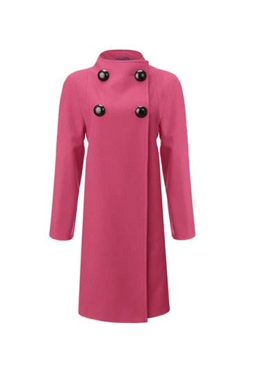 pink swing coat pink swing detail collar coat jaeger the brighter side