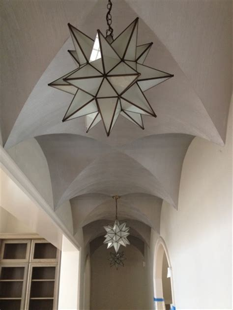 Silver Ceiling Paint by Groin Vault Ceilings With Textured Plaster Painted With