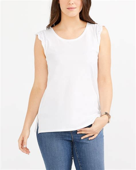 Sleeve Crochet T Shirt cap sleeve crochet t shirt reitmans