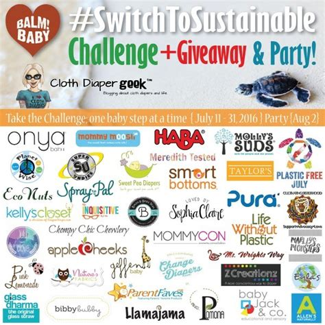 Sustainable Giveaways - switch to sustainable challenge and giveaway party the inquisitive mom
