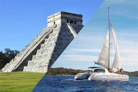 isla mujeres cruise by catamaran combo chichen itza deluxe plus sail by catamaran to isla