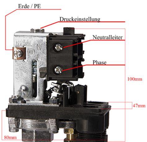 Einhell Hauswasserwerk Druckschalter Einstellen by Druckschalter Kompressoren Luft Kompressor 230v