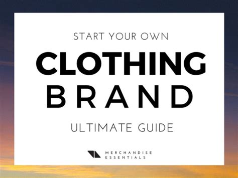 How To Start A Clothing Line From Home by 7 Steps To Create Your Own Clothing Brand