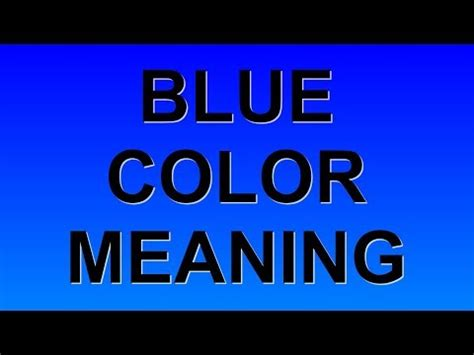 blue meaning blue color meaning
