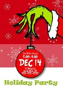 christmas party invitations grinch party by
