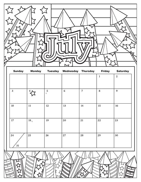 printable 4th quarter calendar 2015 100 4th of july coloring page president andrew