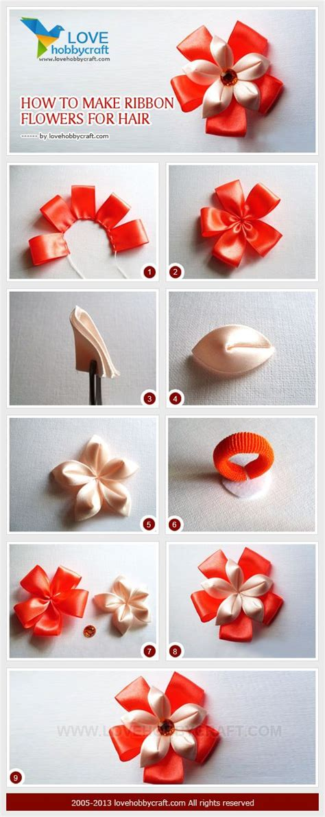 How To Make Flowers Out Of Paper Ribbon - how to make ribbon flowers for hair hair bows step by