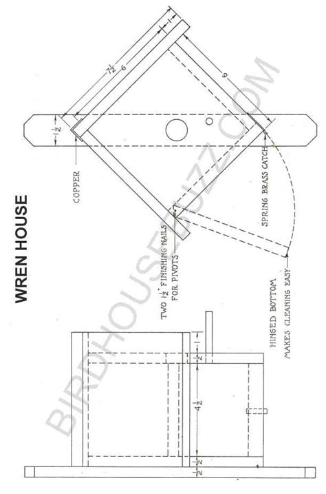 wren house plans pdf birdhouse plans for wrens how to making woodwork pdf
