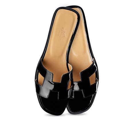 hermes flat shoes herm 232 s oran in black black2 lyst