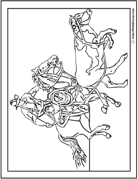 coloring pages of cowboys and horses cowboy horse coloring page