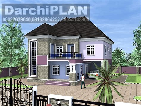 1 Bedroom Guest House Floor Plans nigeria building style architectural designs by darchiplan