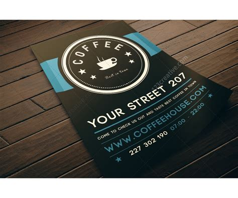 modern clean design for flyer or leaflet ideal for coffee