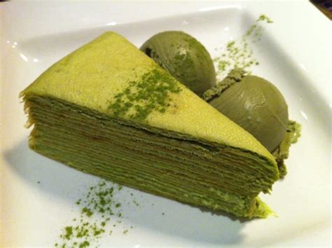 new year green tea cake green tea crepe from m new york with green tea