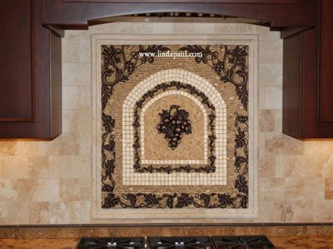kitchen backsplash mosaic tile grapes mosaic tile medallion kitchen backsplash mural mosaics ideas