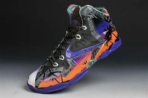customized basketball shoes nike lebron 11 aloha custom xi basketball shoes