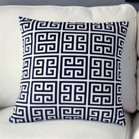 Greek Key Cushion Cover