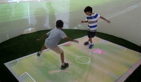 soccer interactive interactive floor projection system touchmagix showcase
