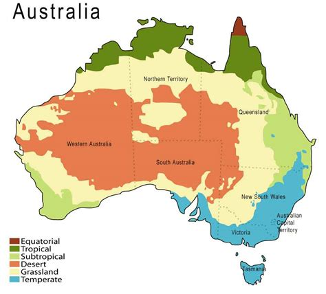 regional map of australia australia physical divisions climate and regions