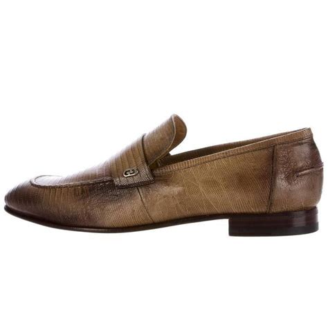 s gucci loafers sale gucci new s brown lizard skin leather slippers