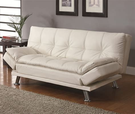 new york futon contemporary white sleeper sofa bed modern futons