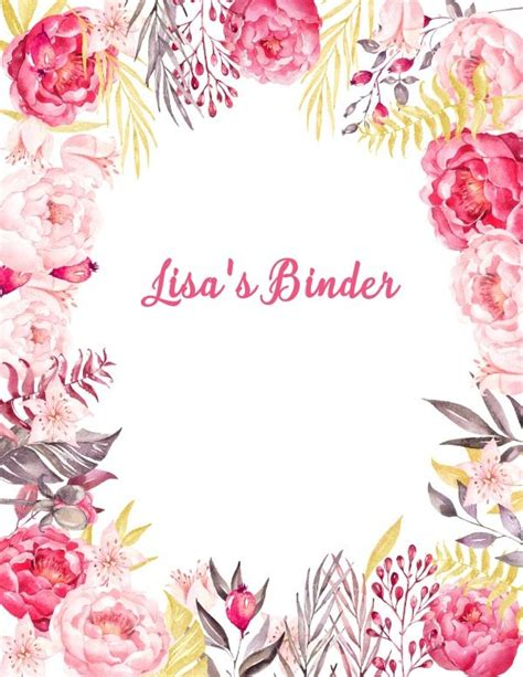 flower design templates free binder cover templates