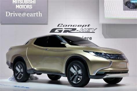 mitsubishi triton previewed  gr hev concept performancedrive