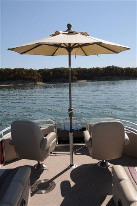 boat umbrella top tahoe sierra 2585 rc elite pontoon deck boat magazine